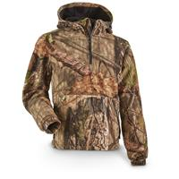 Guide Gear Men's Whist Pullover Hunting Jacket with W3 Fleece, Mossy Oak Break-Up Country