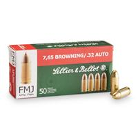 Sellier & Bellot, .32 Auto, 73 Grain, FMJ, 3000 Rounds