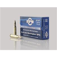 PPU 6.8 Remington SPC, 115 Grain, HPBT, 20 Rounds