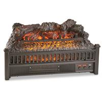 Comfort Glow Electric Log Heater with Flame Projection