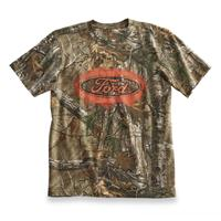 Realtree Men's Trucked Up Short Sleeve Camo Tee, Ford