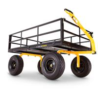 Gorilla Carts Steel Utility Cart, 1,400 Pound Capacity