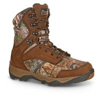Rocky Retraction Men's Waterproof Insulated Hunting Boots, Realtree AP / Brown