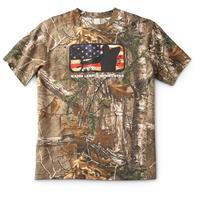 Men's Fadeout Short Sleeve T-Shirt, Realtree Xtra