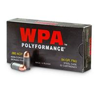 Wolf WPA Polyformance .380 Auto 94 Grain FMJ 50 rounds