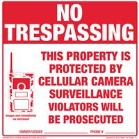 Extreme Hunting Solutions Aluminum No Trespassing Signs, 12 Pack