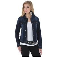 Wrangler Women's Premium Denim Jacket, Dark Denim