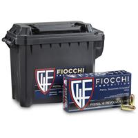 Fiocchi, .45 ACP, 230 Grain, FMJ Ammo with Can, 200 Rounds