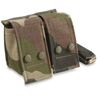 French Military CCE Camo Double Magazine Pouches, 2 Pack, New