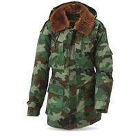 Serbian Military Surplus Parka with Liner, New
