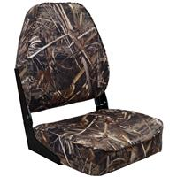 Wise High Back Camo Boat Seat, Realtree MAX-5