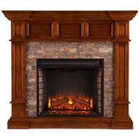 Southern Enterprises Merrimack Electric Fireplace, Buckeye Oak