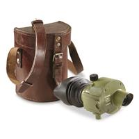 Yugoslavian Military Surplus Monocular with Leather Case, Used