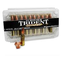 G2 Research Trident RIP Out, 7.62x39mm, 124 Grain, SuperSonic Lead-free Ammo, 20 Rounds