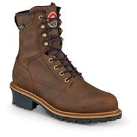 "Irish Setter Men's Mesabi Waterproof 8"" Steel Toe Logger Boots"
