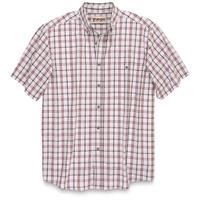 Wrangler Men's Blue Ridge Short Sleeve Plaid Shirt, White