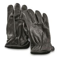Guide Gear Men's Insulated Leather Gloves Black