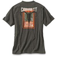 Carhartt Men's Maddock Graphic Earn Every Buck Pocket T Shirt, Carbon Heather