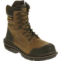 "Cat Men's Fabricate 8"" Tough Waterproof Composite Toe Work Boots, Brown"