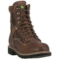 "John Deere Men's Waterproof 8"" Lace-Up Work Boots, Tan / Wheat"