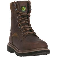 "John Deere Men's 8"" Lace-Up Work Boots, Gaucho Brown"