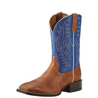 Ariat Men's Sport Western Boots, Red Angus Brown/Royal