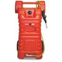 Portable 25-Gallon Gas Caddy with Two-Way Rotary Pump
