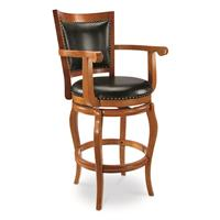CASTLECREEK Oversized Chase Bar Stool, Honey Oak