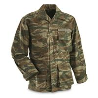 Greek Military Surplus Lizard Camo BDU Jacket, New