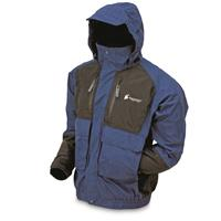frogg toggs Men's Waterproof Firebelly Toadz Jacket, Blue/Black