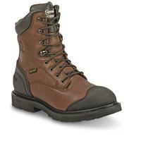 "Chippewa Men's Waterproof 8"" Heavy Duty Oiled Work Boots, Oiled Brown"