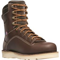 "Danner Men's Quarry USA Waterproof 8"" Wedge Work Boots, Brown"