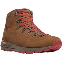 "Danner Mountain 600 4.5"" Women's Suede Waterproof Hiking Boots, Brown/Red"