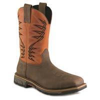 Irish Setter Men's Marshall Steel Toe Western Work Boots, Brown/Rust