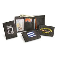 Embroidered Military Wallets, 8 Pack