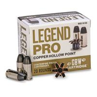GBW Cartridge, Legend Pro, .380 ACP, CHP, 80 Grain, 20 Rounds