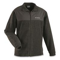 Columbia Men's Steens Mountain Tech II Full-Zip Fleece Jacket, Charcoal Heather/Grill