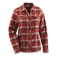 Columbia Women's Simply Put II Flannel Shirt, Sail Red