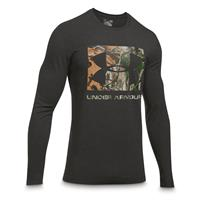 Under Armour Men's Camo Knockout Long Sleeve Shirt, Black/Realtree AP Xtra
