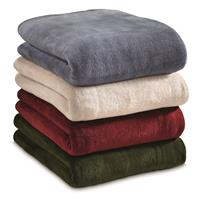 CASTLECREEK Super Plush Blanket - Storm, Sand, Brick, Dark Green