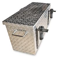 Hornet Outdoors Polaris Ranger and General Diamond Plate Aluminum Tool Box, Medium