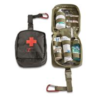 U.S. Military Surplus FAK Medical Pouch with Belt Hanger, New