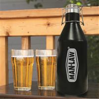 MAN LAW 2-Liter Stainless Steel Insulated Growler
