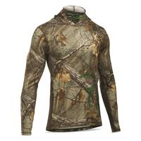 Under Armour Men's Camo Cool Switch Hoodie, Black/Realtree AP Xtra