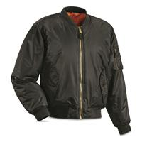 Fox Tactical MA-1 Insulated Flight Jacket, Black