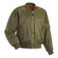 Fox Tactical MA-1 Insulated Flight Jacket, Sage