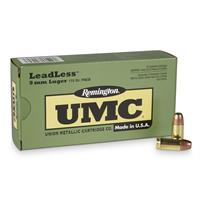 UMC LeadLess, 9mm Luger, FNEB, 115 Grain, 50 Rounds