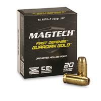 Magtech Guardian Gold, .45 Auto + P, JHP, 230 Grain, 20 Rounds