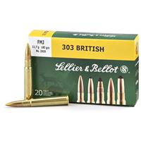 Sellier & Bellot, .303 British, FMJ, 180 Grain, 20 Rounds