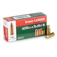 Sellier & Bellot® Pistol 9mm Luger Subsnic 140 Grain FMJ 50 rounds